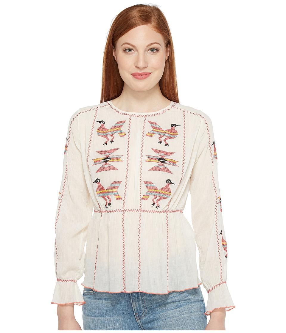 Intropia - Embroidered Blouse (White) Women's Blouse