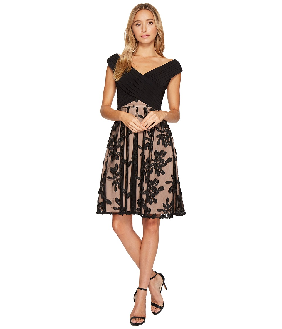 Adrianna Papell Portrait Bodice Fit and Flare Dress