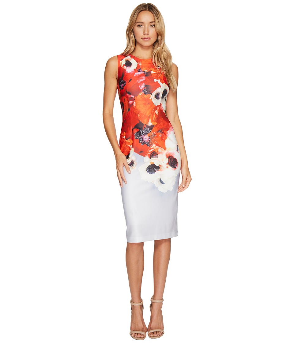 Adrianna Papell - Poppy Delight Midi Sheath Dress (Red Multi) Women's Dress
