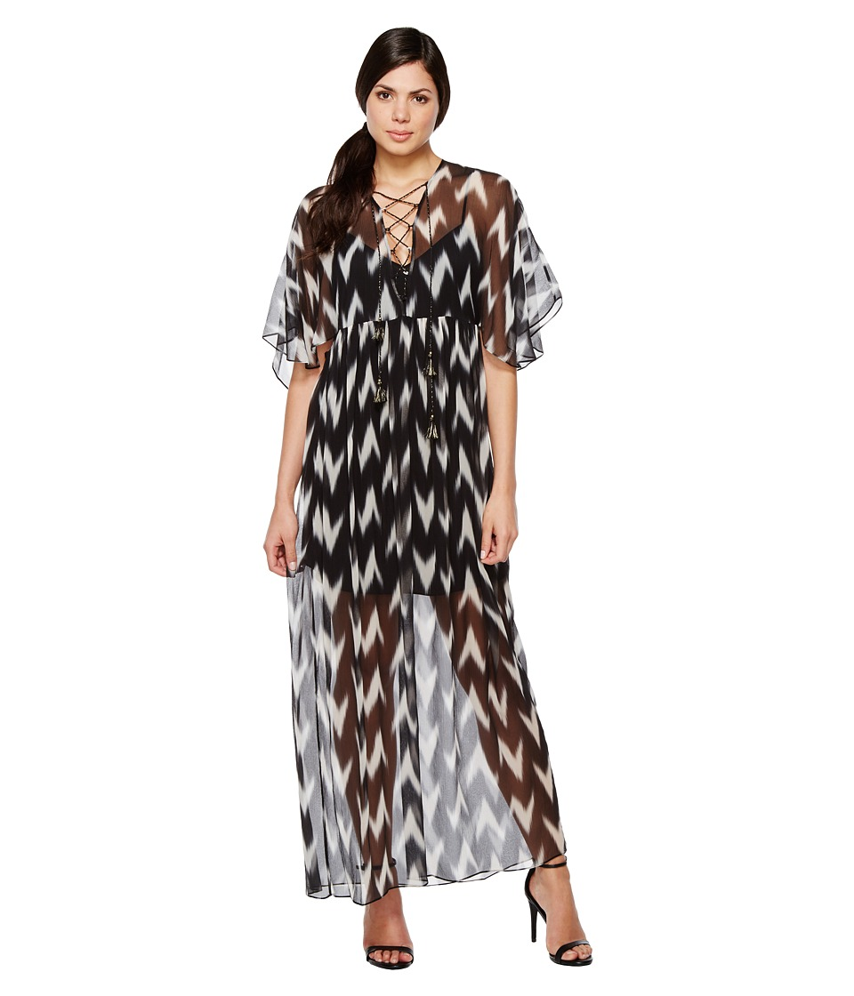 Rachel Zoe Carol Gown (Black/White) Women