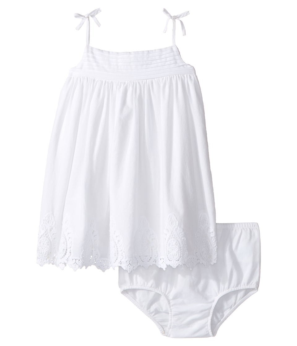 Ralph Lauren Baby - Batiste Lace Tiered Dress (Infant) (White) Girl's Dress