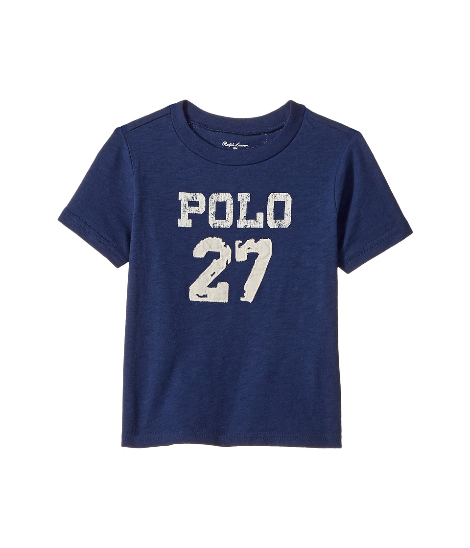Ralph Lauren Baby - 30/1 Slub Jersey Short Sleeve Crew Neck Top (Infant) (Fresco Blue) Boy's T Shirt
