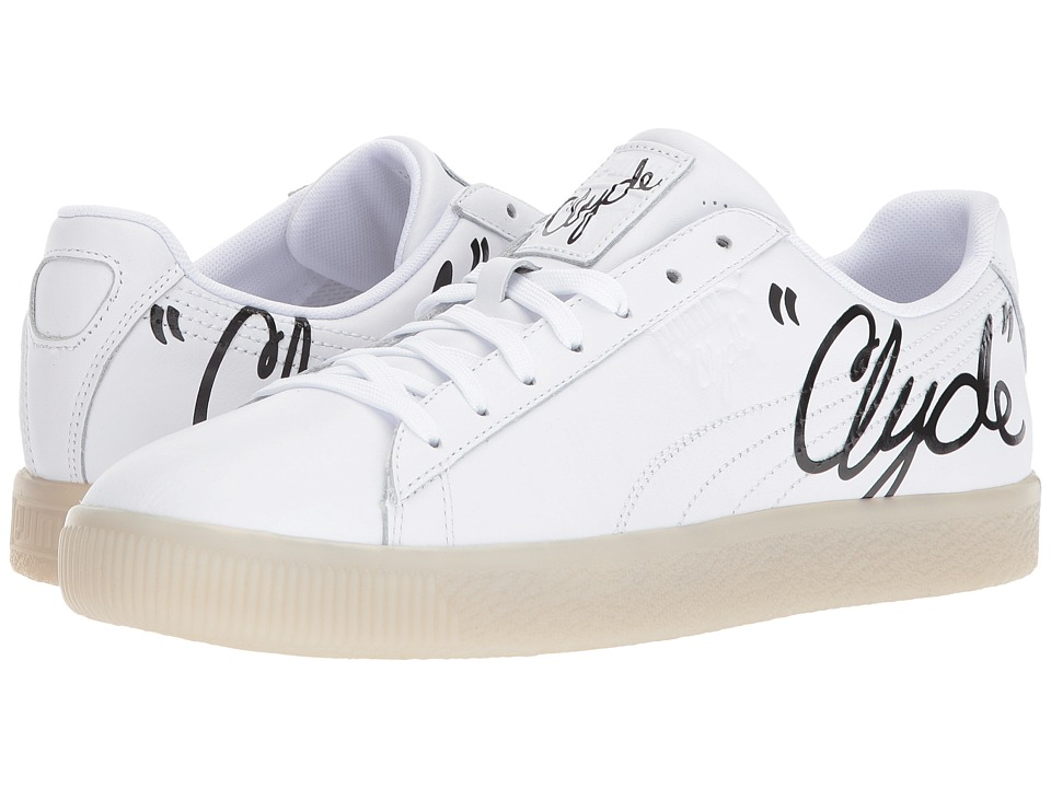 PUMA - Clyde Signature Ice (Puma White/Puma Black) Men's Shoes