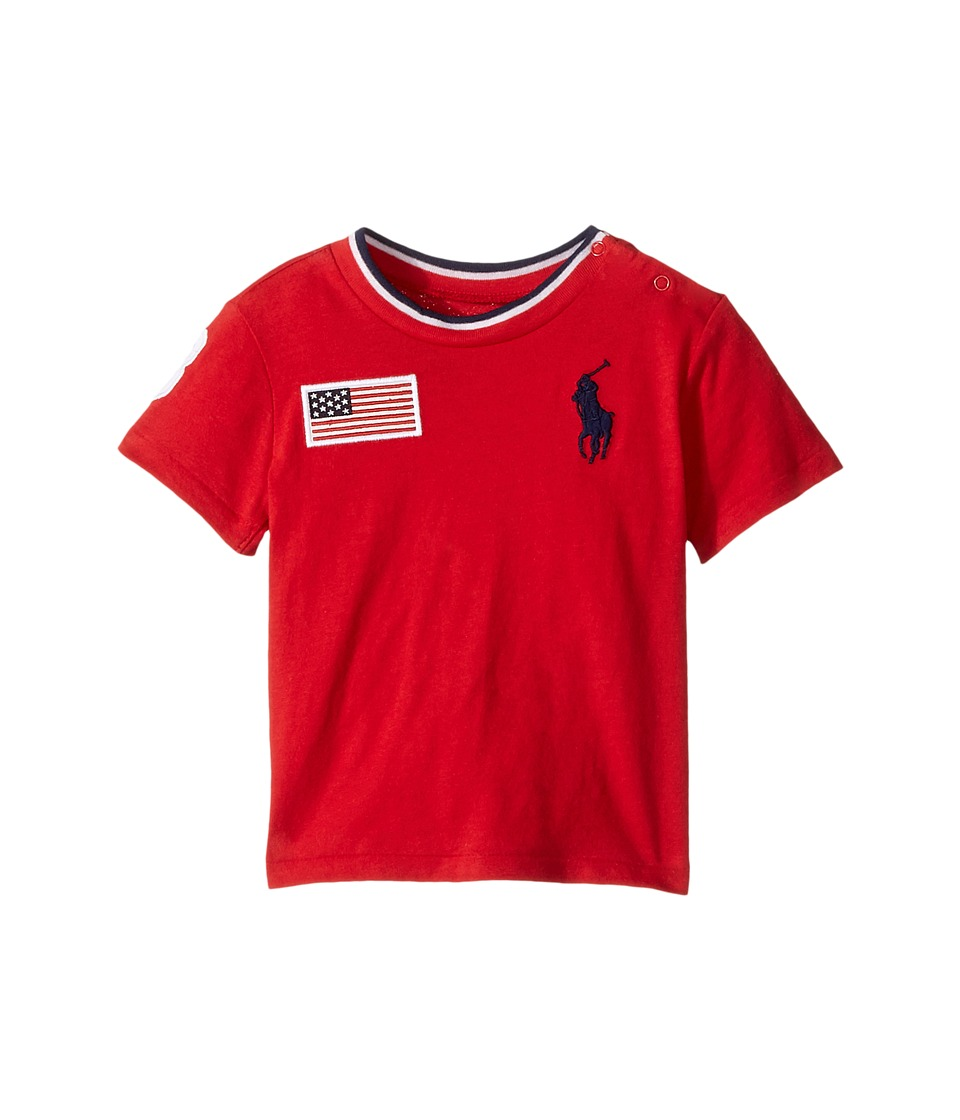Ralph Lauren Baby - 30s Jersey Big Pony Polo Crew Neck Top (Infant) (RL 2000 Red) Boy's T Shirt