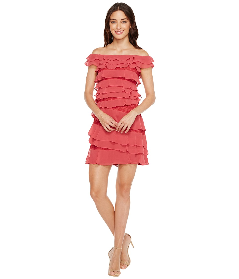 Adrianna Papell Cynthia Lace Off the Shoulder Tiered Dress