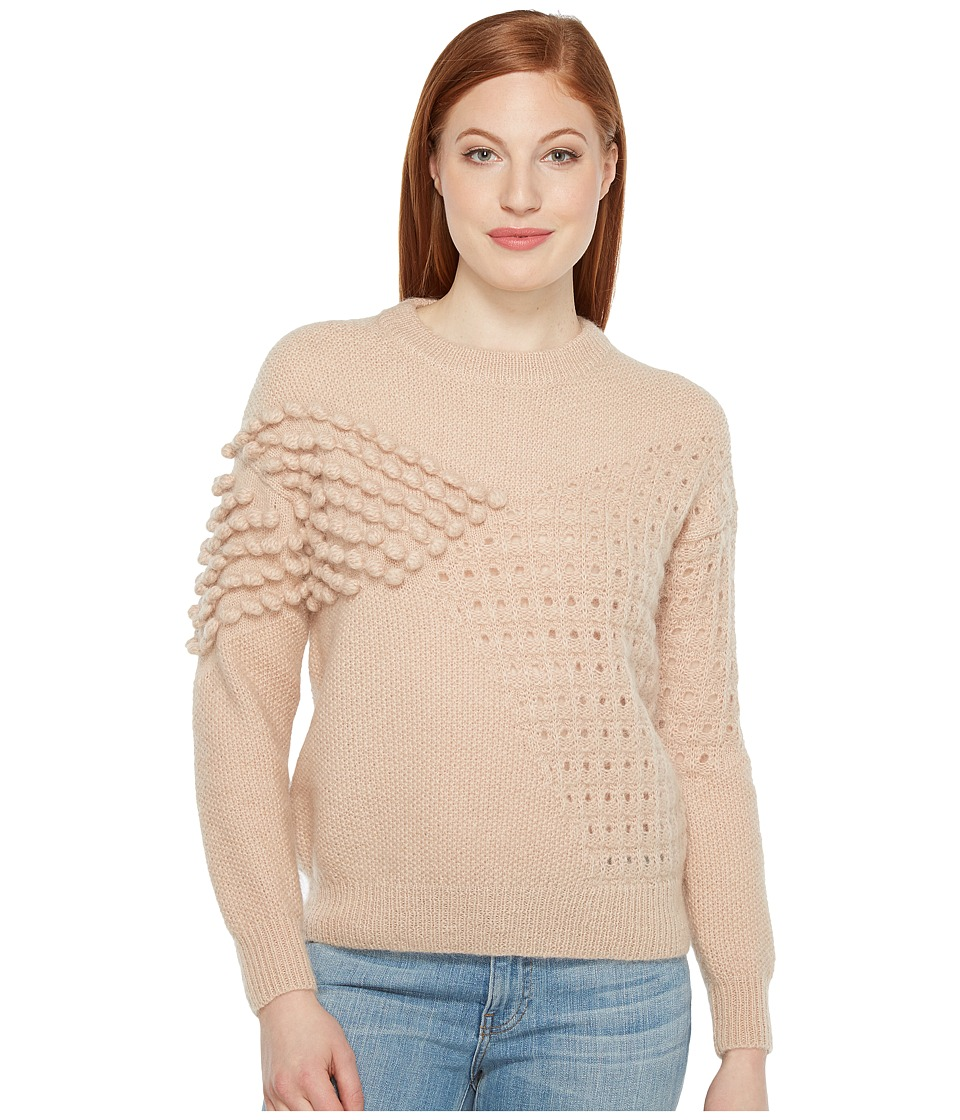 Intropia - Knitted Stitches Sweater (Nude) Women's Sweater