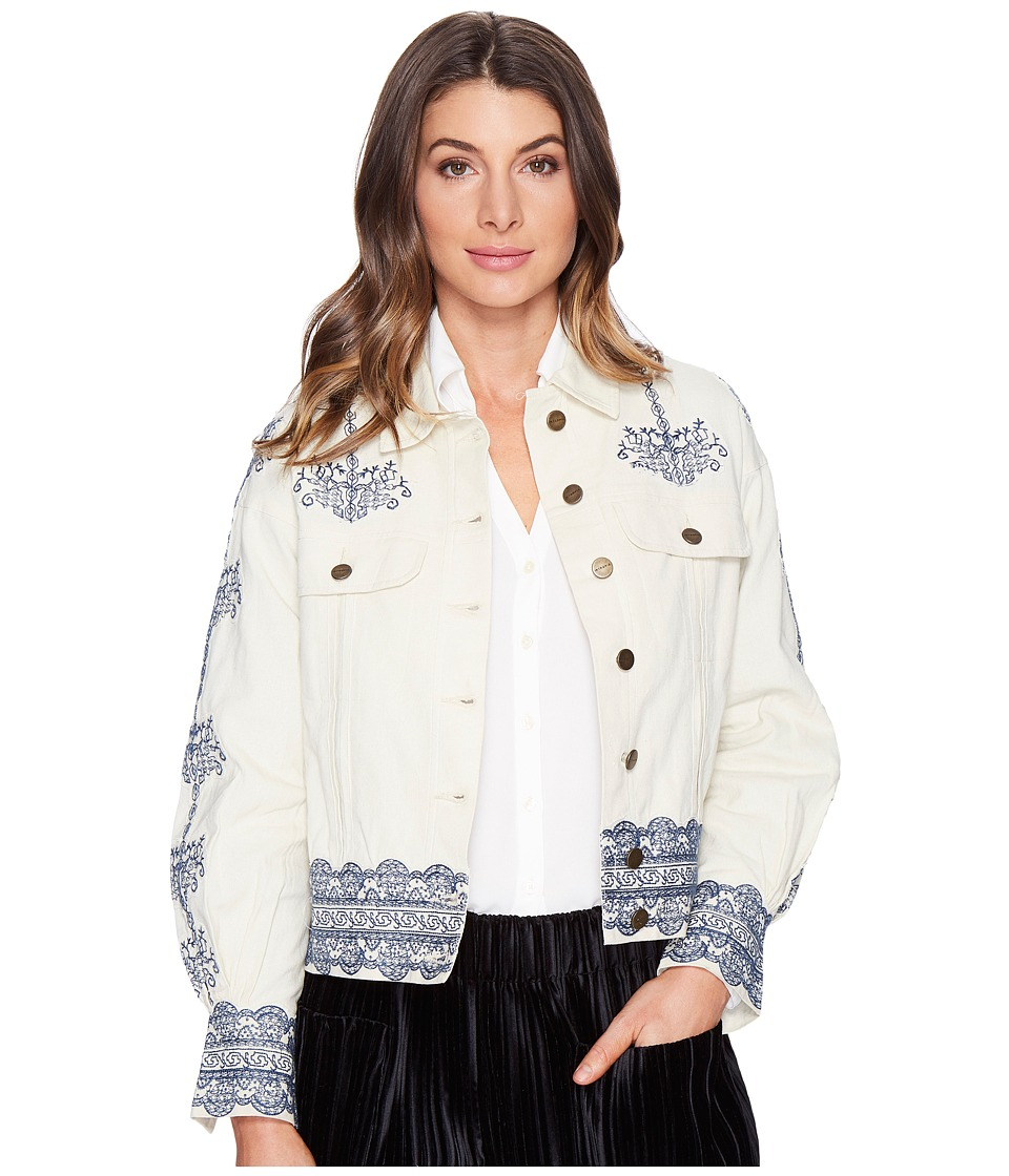Intropia - Embroidered Jacket (Linen) Women's Coat