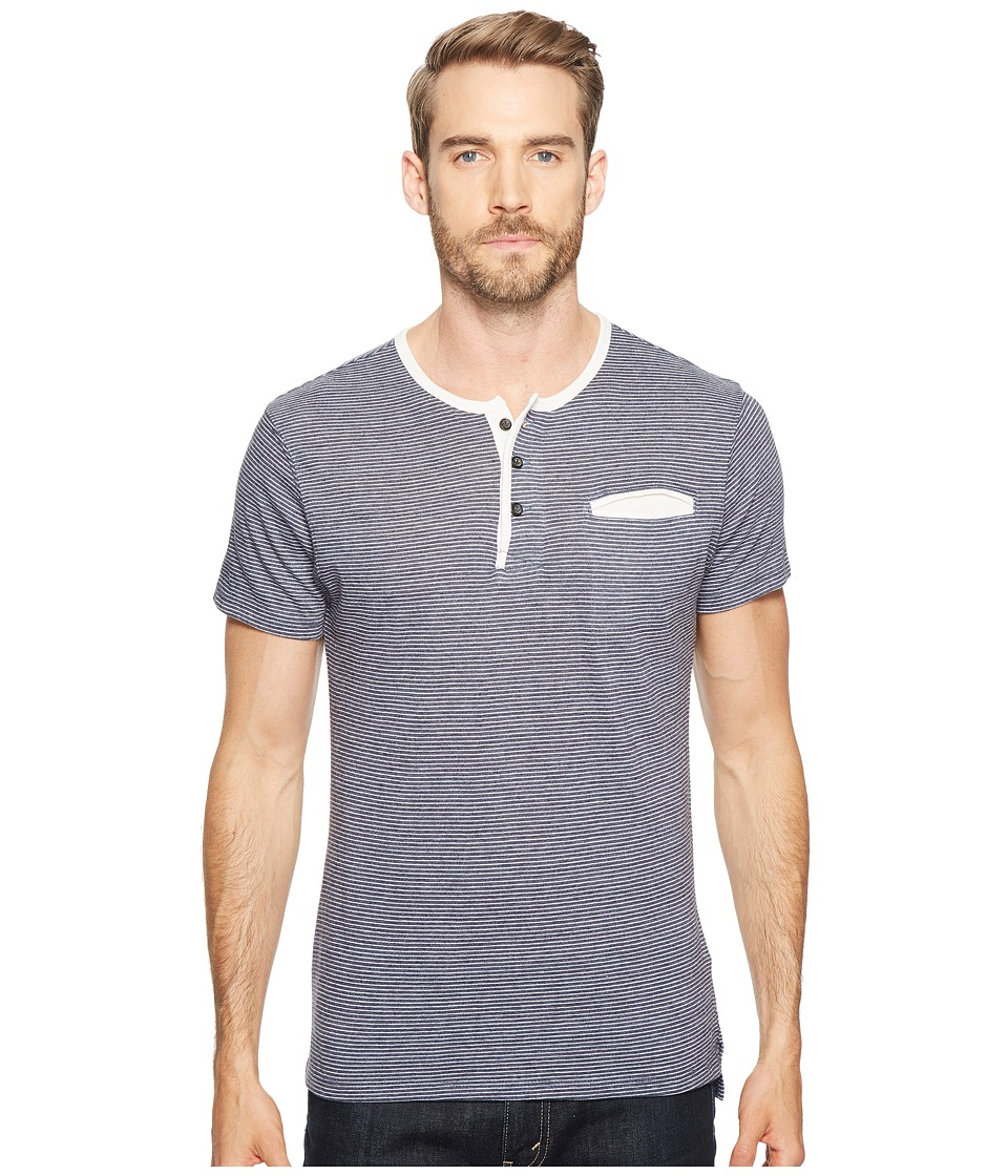 Alternative - Eco Jersey Yarn-Dye Stripe Offshore Henley (Midnight Seaside Stripe) Men's Clothing