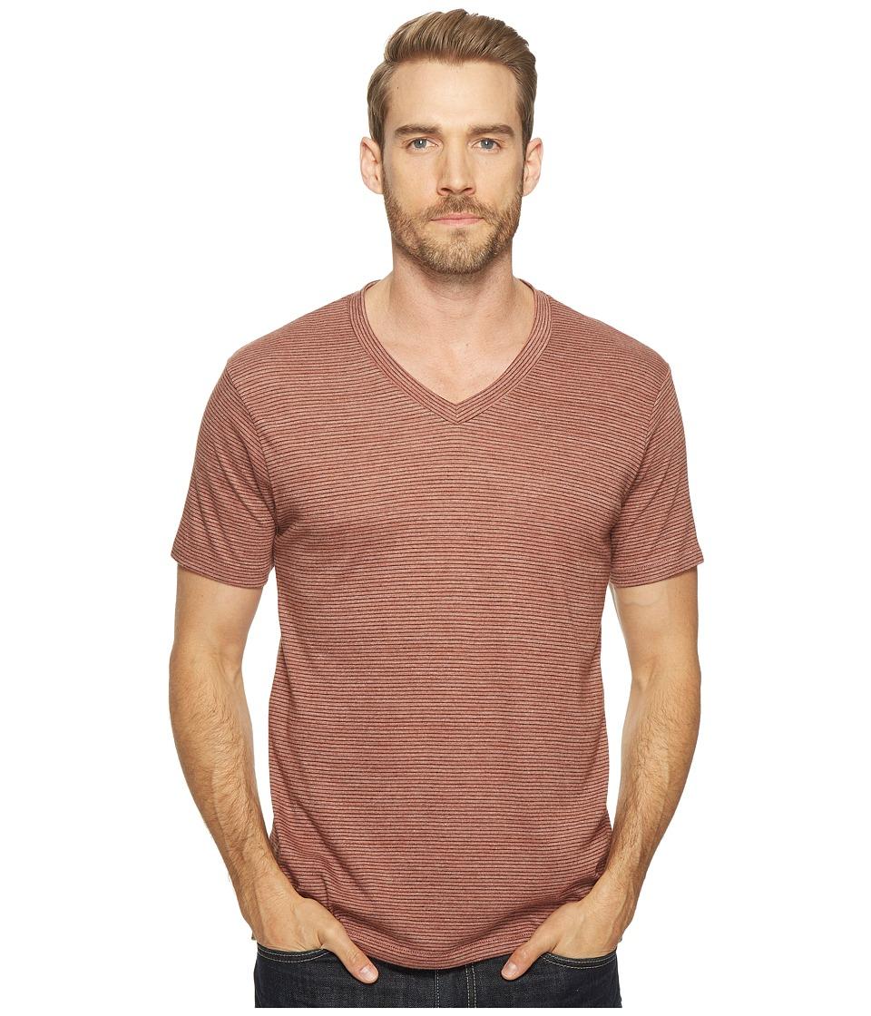 Alternative - Boss V-Neck (Desert Rock Overdye Seaside Stripe) Men's Clothing