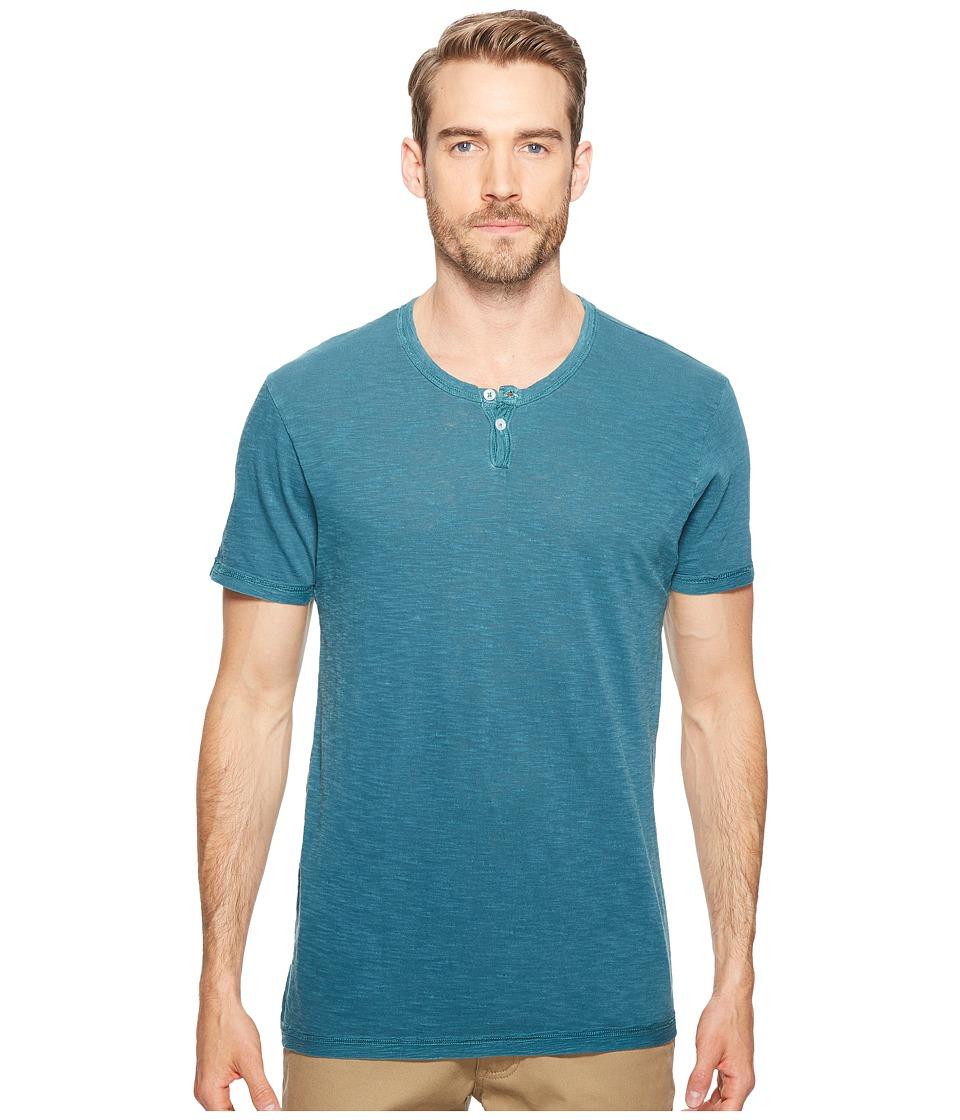 Alternative - Washed Slub Home Team Henley (Coastal Teal Pigment) Men's Clothing