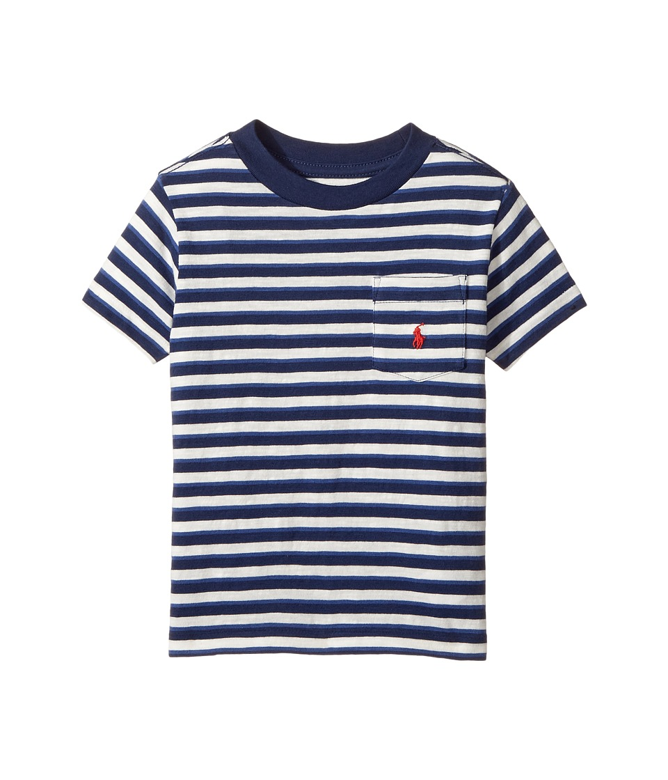 Polo Ralph Lauren Kids - Yarn-Dyed Slub Jersey Pocket Tee (Toddler) (Nevis Multi) Boy's T Shirt