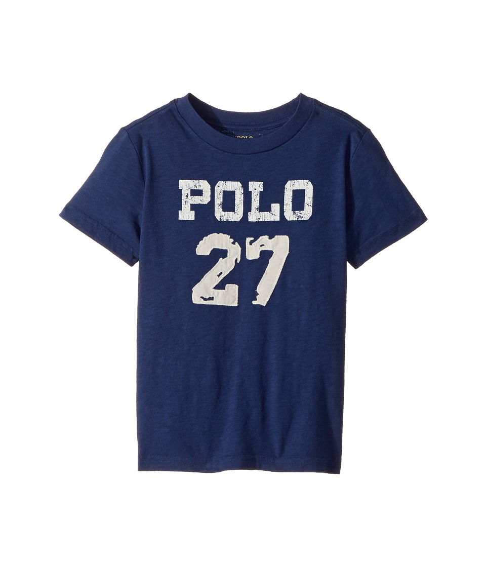 Polo Ralph Lauren Kids - 30/1 Slub Jersey Short Sleeve Crew Neck 2 Top (Toddler) (Fresco Blue) Boy's T Shirt