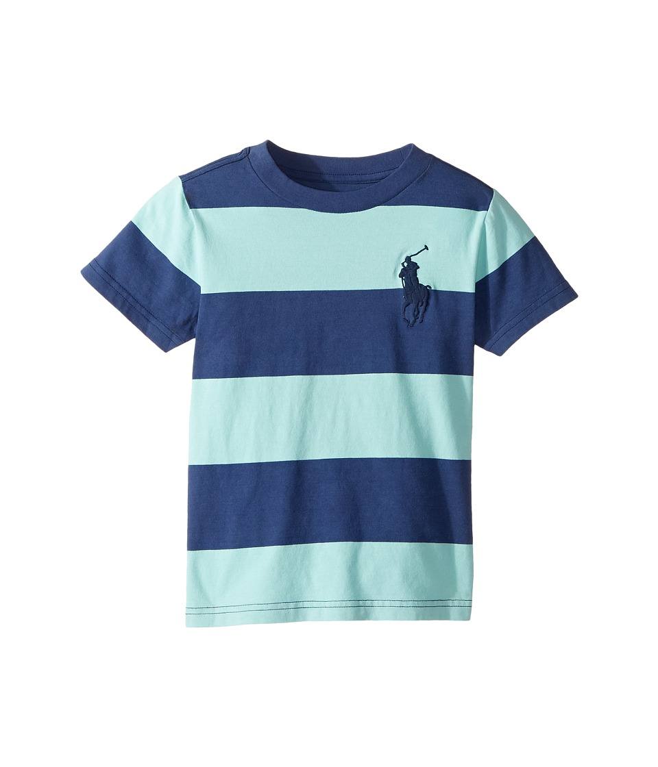 Polo Ralph Lauren Kids - 30/1 Yarn-Dyed Jersey Short Sleeve Crew Neck Striped Top (Toddler) (Bayside Green Multi) Boy's T Shirt