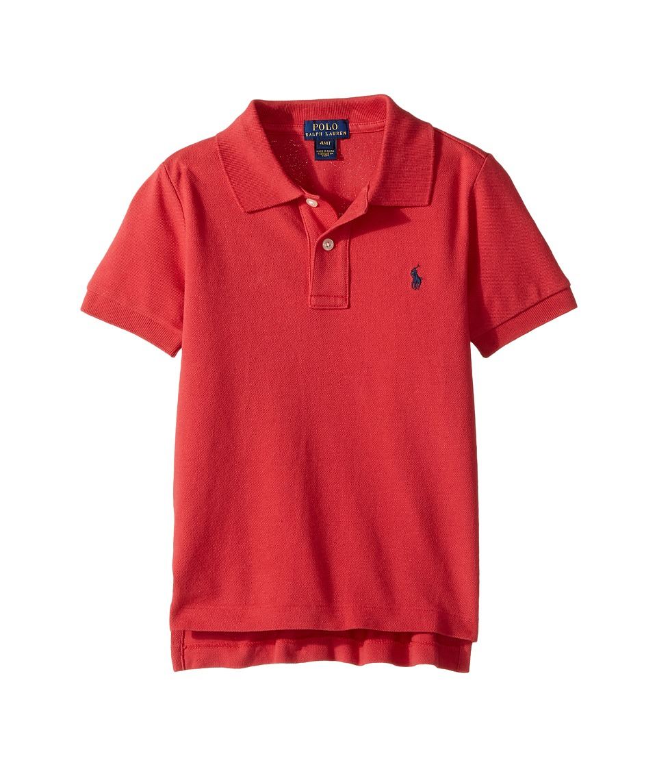 Polo Ralph Lauren Kids - Basic Mesh Short Sleeve Knit Top (Toddler) (Sunrise Red) Boy's T Shirt