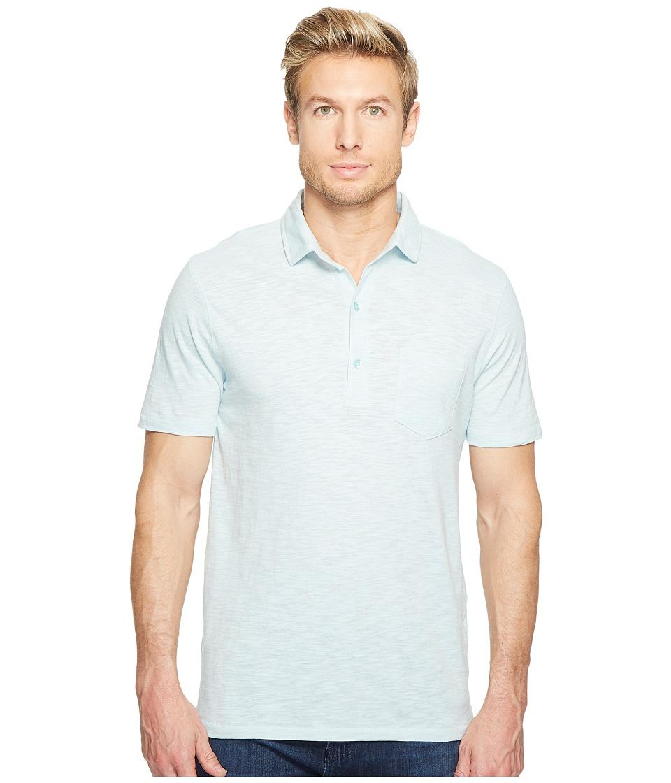 Alternative - Washed Slub Fairway Polo (Mist Blue) Men's Clothing