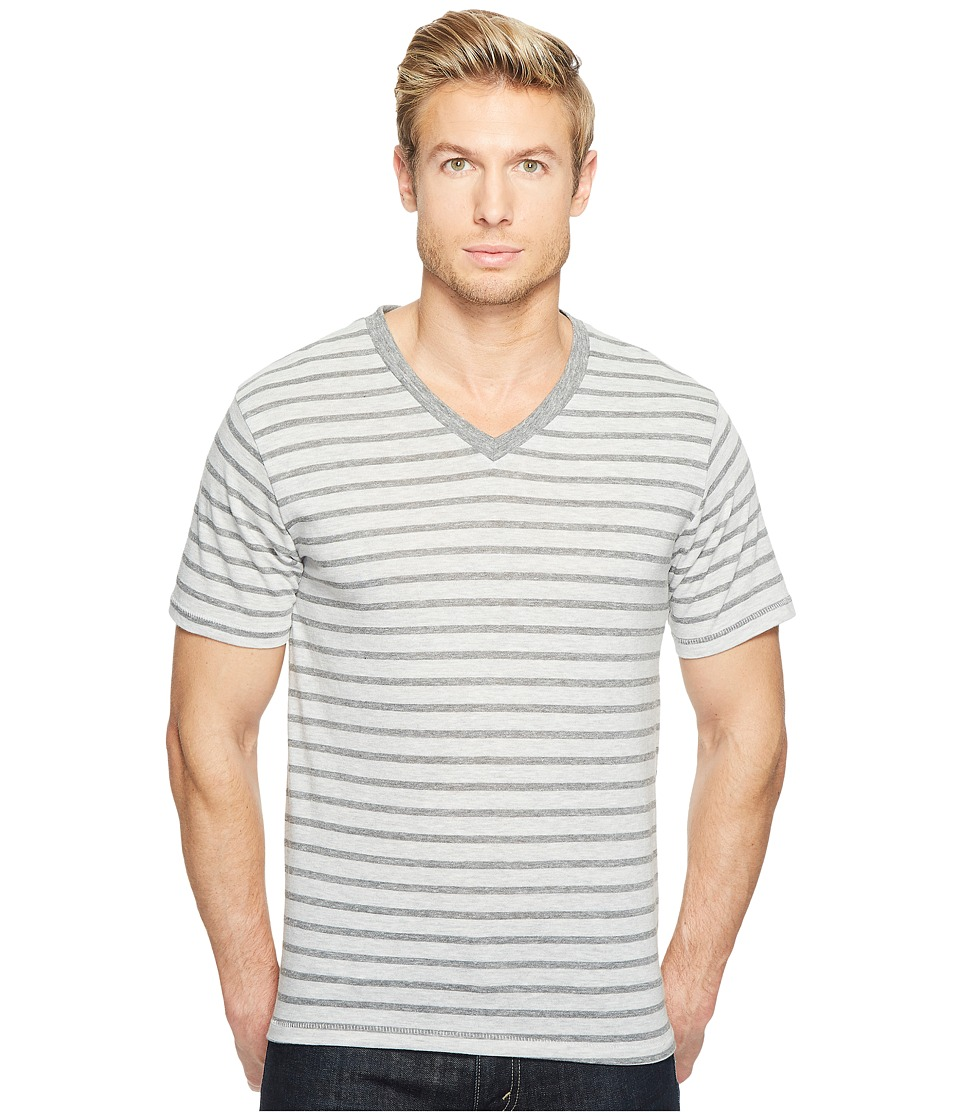 Alternative - Boss V-Neck (Eco Grey Riviera Stripe) Men's Clothing