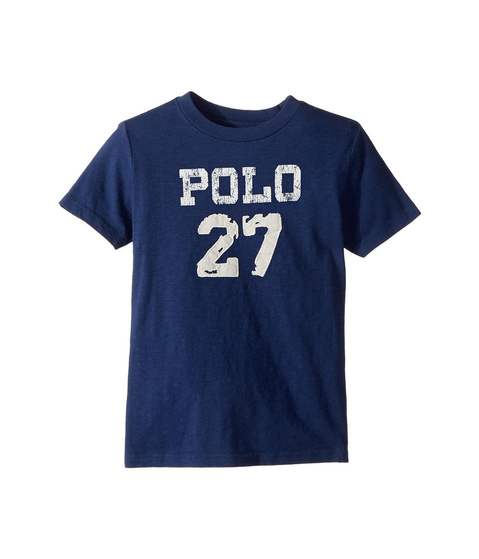 Polo Ralph Lauren Kids - 30/1 Slub Jersey Short Sleeve Crew Neck 2 Top (Little Kids/Big Kids) (Fresco Blue) Boy's T Shirt
