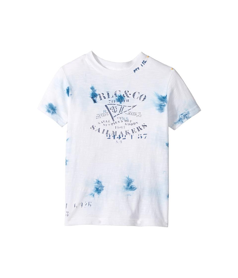 Polo Ralph Lauren Kids - 30/1 Slub Jersey Short Sleeve Crew Neck Top (Little Kids/Big Kids) (White) Boy's T Shirt