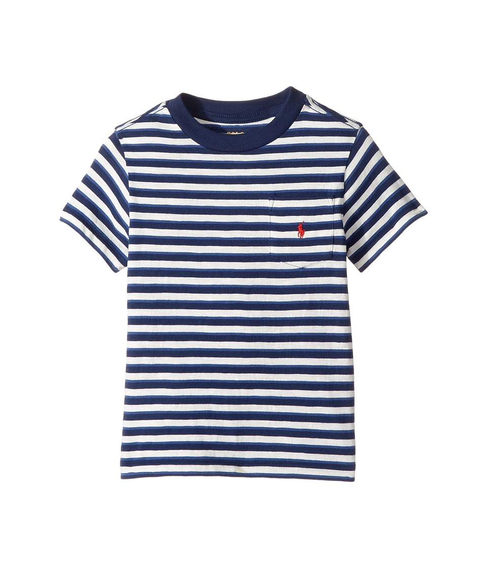 Polo Ralph Lauren Kids - Yarn-Dyed Slub Jersey Pocket Tee (Little Kids/Big Kids) (Nevis Multi) Boy's T Shirt