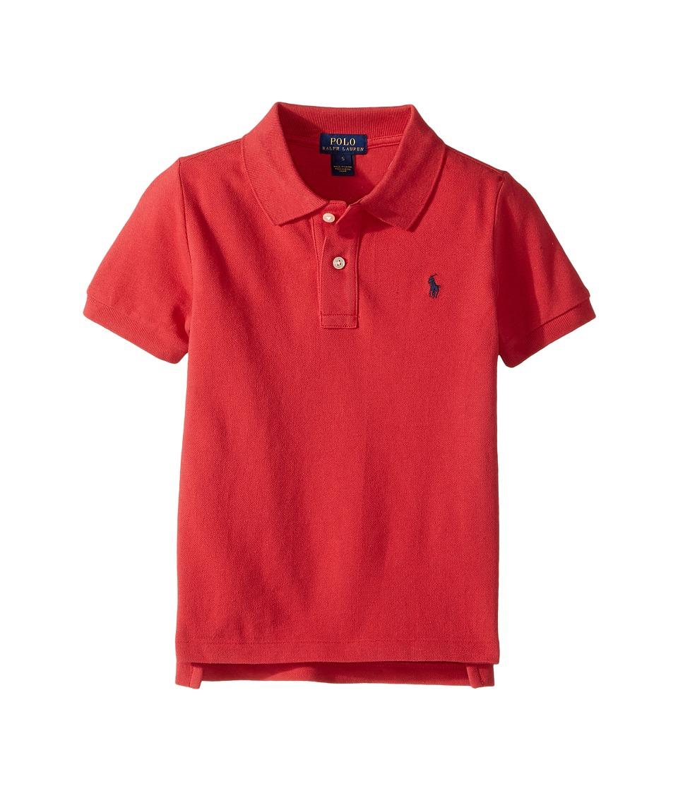 Polo Ralph Lauren Kids - Basic Mesh Short Sleeve Knit Collar Top (Little Kids/Big Kids) (Sunrise Red) Boy's T Shirt