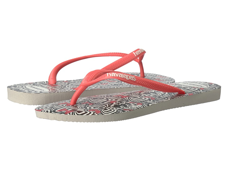 Havaianas - Slim Millennial Minnie Sandal (White Minnie) Women's Sandals