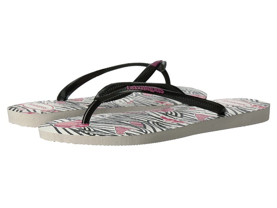 Havaianas Slim Millennial Cheshire Cat Sandal (White/Black Cheshire) Women