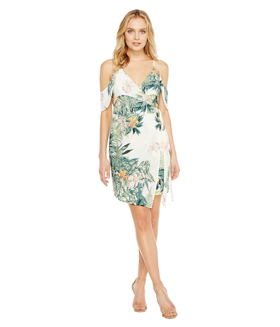 Adelyn Rae - Prescilla Woven Dress (White/Green) Women's Dress