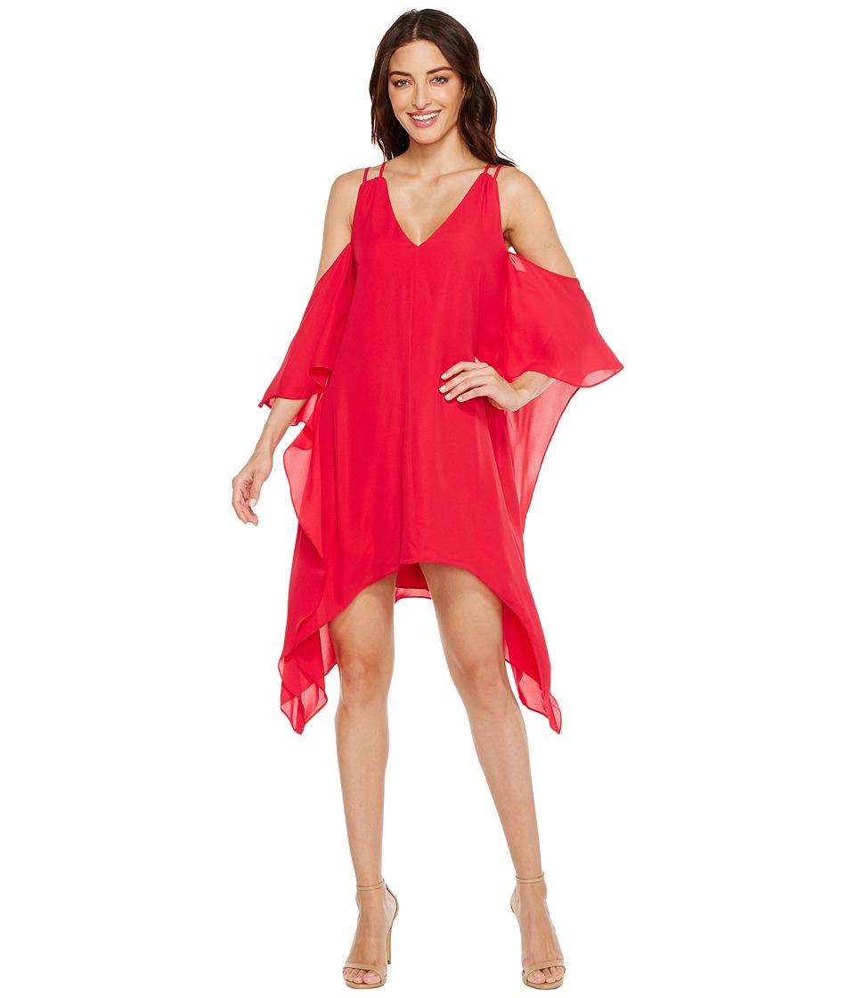 Adelyn Rae - Fiona Woven Shift Dress (Cerise) Women's Dress