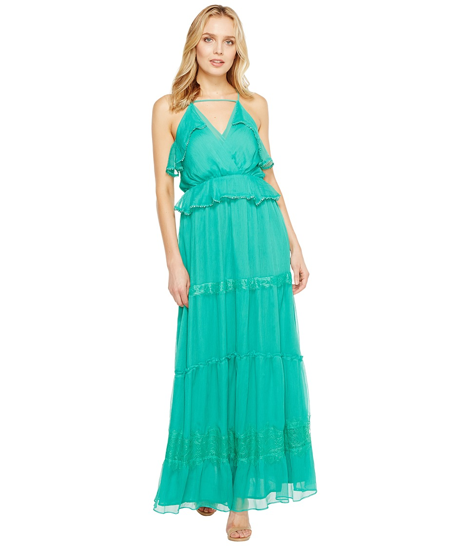 Adelyn Rae - Venus Frill Maxi Dress (Emerald) Women's Dress