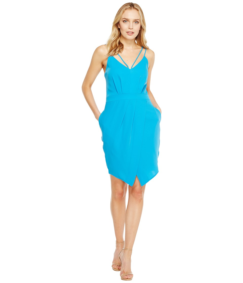 Adelyn Rae - Noemi V-Neck Sheath Dress (Turquoise) Women's Dress
