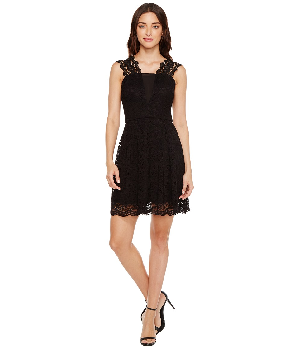 Adelyn Rae Felicity Fit and Flare Dress (Black) Women