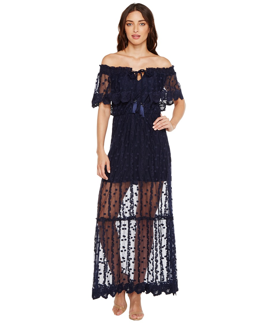 Adelyn Rae - Josephine Woven Maxi Dress (Navy) Women's Dress