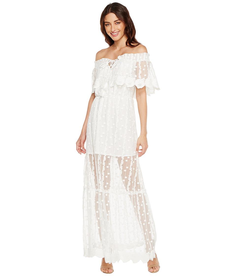 Adelyn Rae - Josephine Woven Maxi Dress (White) Women's Dress