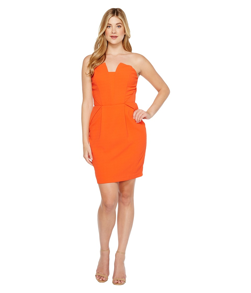 Adelyn Rae - Rosalyn Woven Tube Dress (Orange) Women's Dress