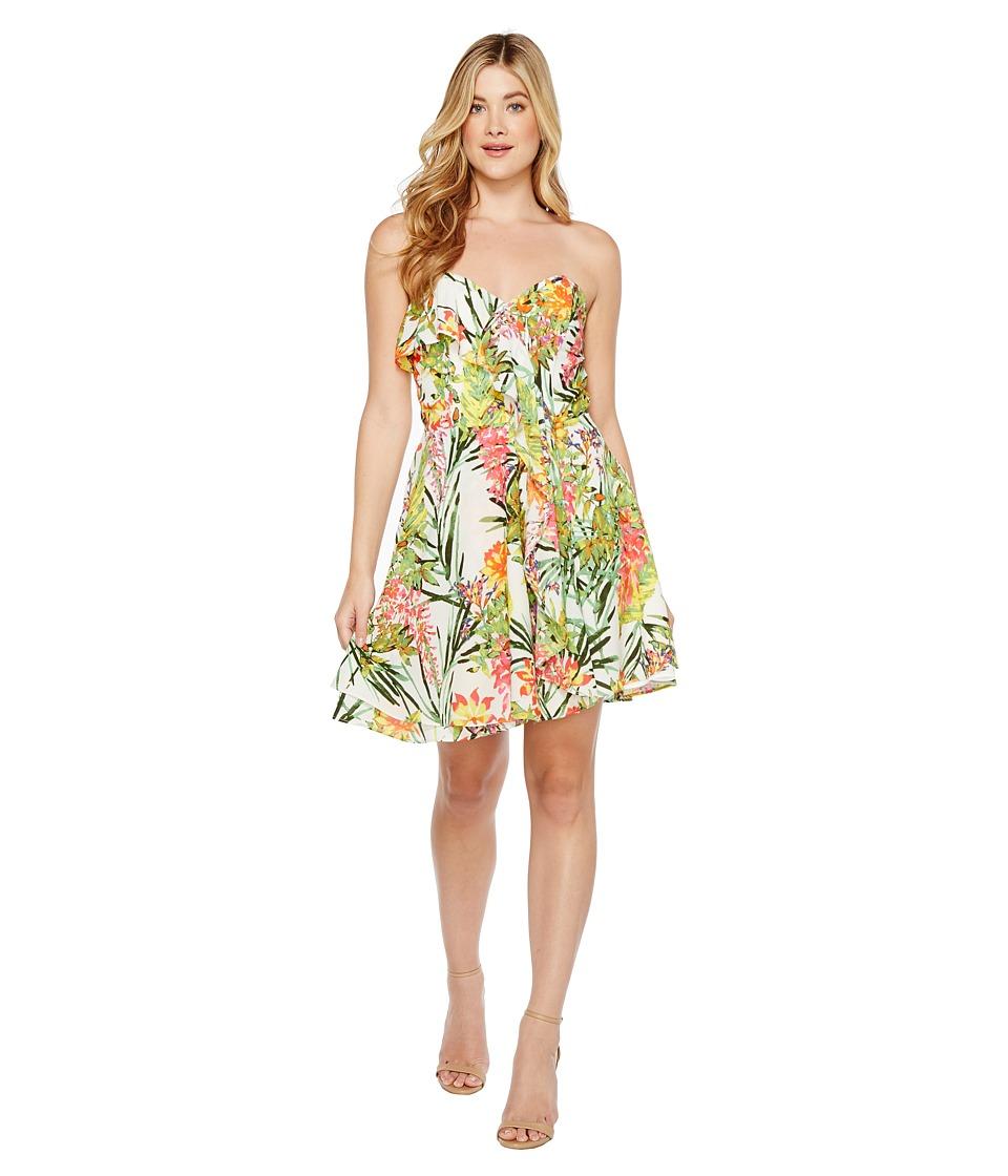 Adelyn Rae - Leanna Woven Strapless Dress (White/Green) Women's Dress