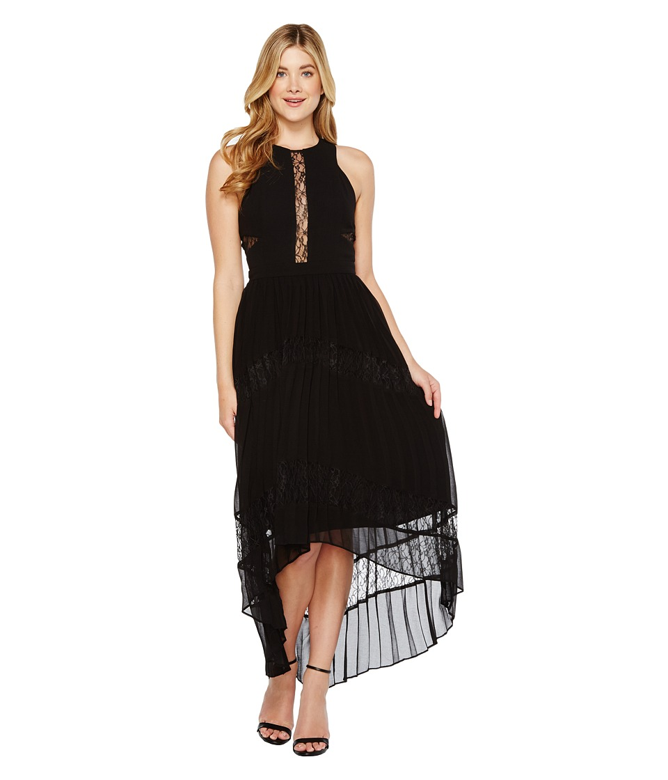 Adelyn Rae Irina Woven Pleated Dress (Black) Women