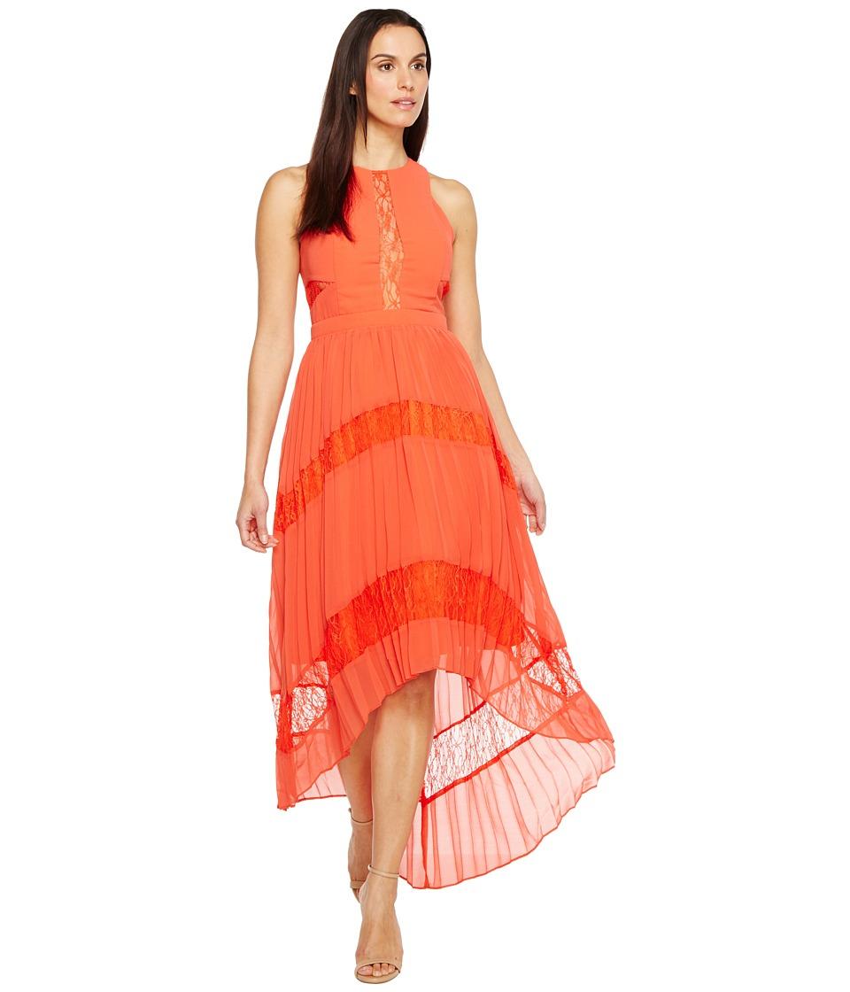 Adelyn Rae - Irina Woven Pleated Dress (Orange) Women's Dress