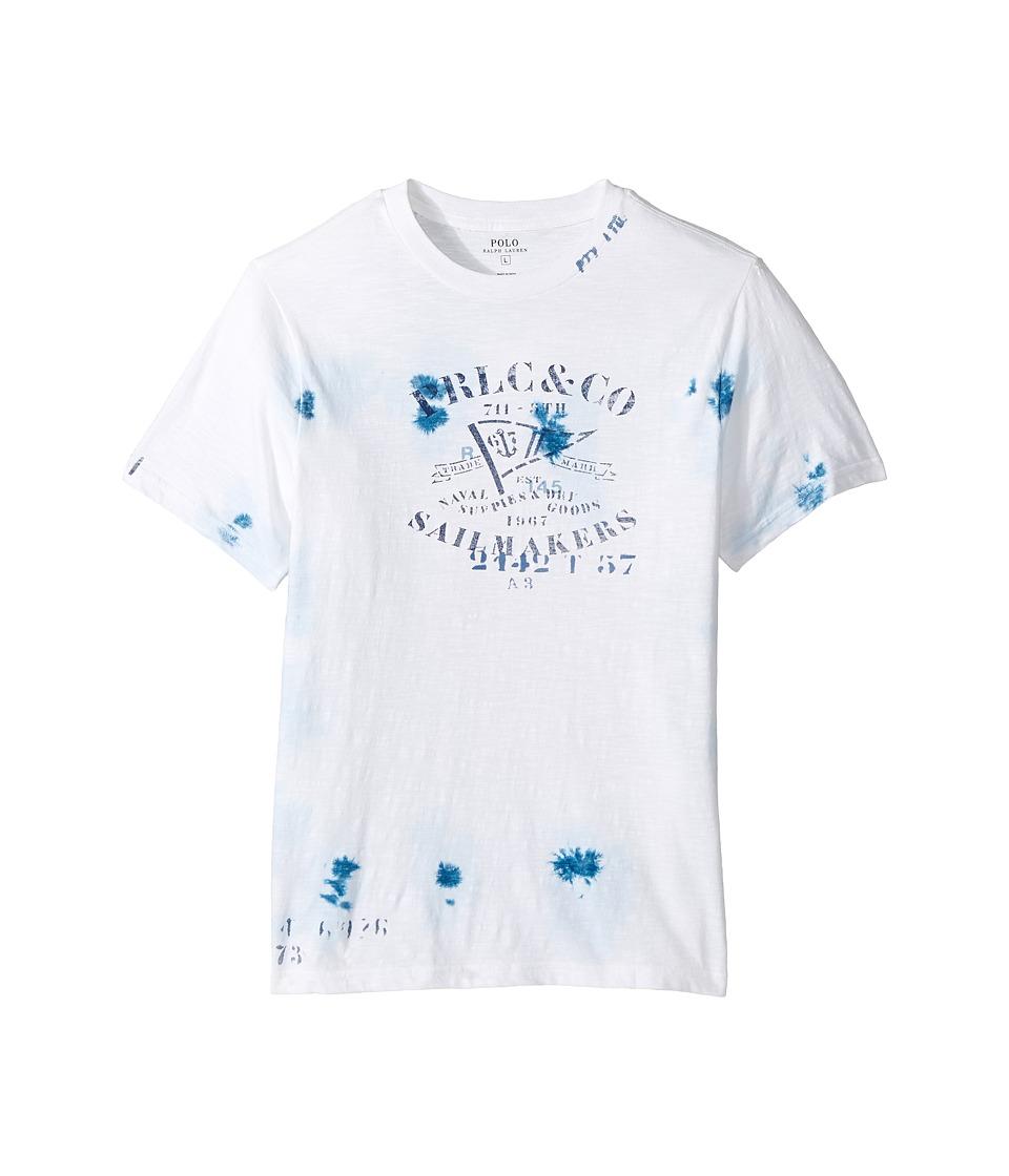 Polo Ralph Lauren Kids - 30/1 Slub Jersey Short Sleeve Crew Neck Top (Big Kids) (White) Boy's T Shirt