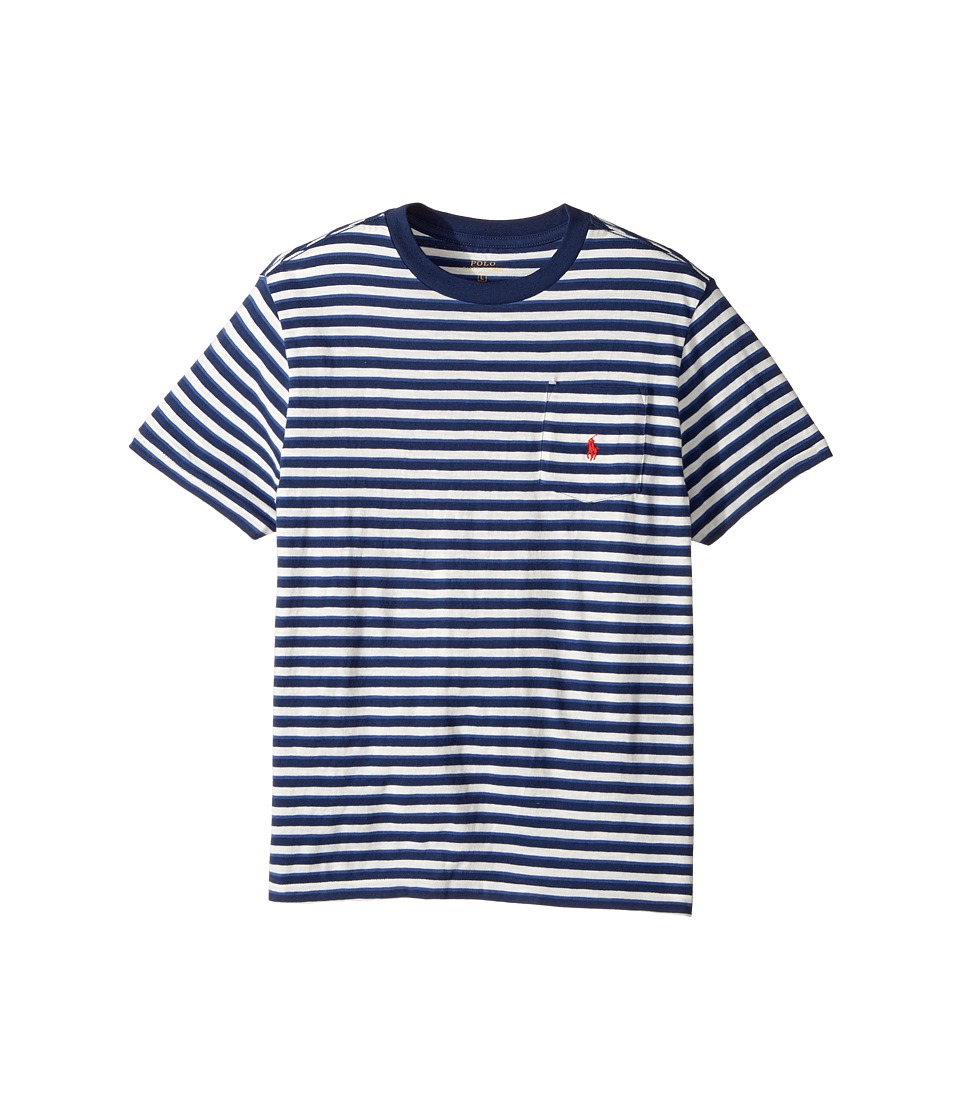 Polo Ralph Lauren Kids - Yarn-Dyed Slub Jersey Pocket Tee (Big Kids) (Nevis Multi) Boy's T Shirt