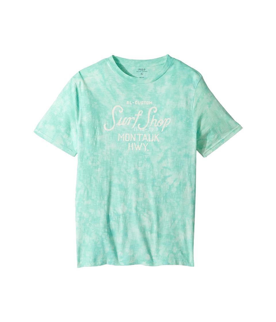 Polo Ralph Lauren Kids - 30/1 Slub Jersey Short Sleeve Crew Neck Top (Big Kids) (Bayside Green) Boy's T Shirt