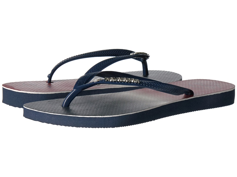Havaianas - Slim USA Ombre Sandal (Navy/Navy Ombre) Women's Sandals
