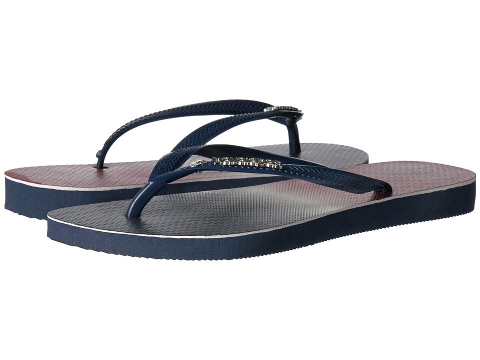 Havaianas - Slim USA Ombre Sandal (Navy/Navy Ombre) Women's Sandals