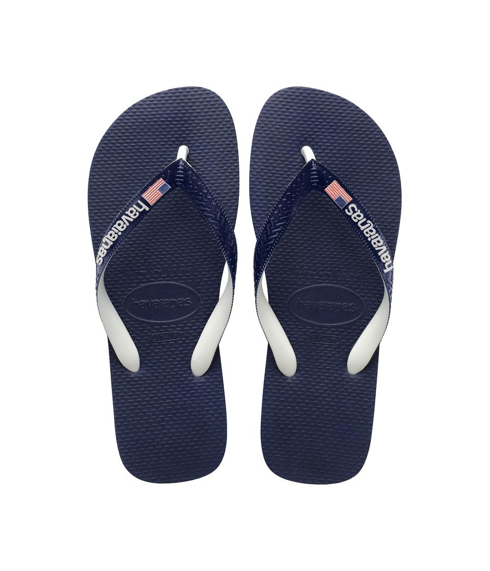 Havaianas USA Logo Sandal (Navy Blue) Men