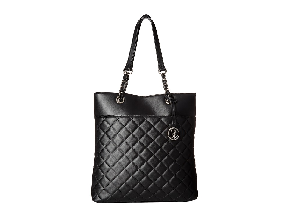 Nine West - Checkered Chic (Black) Handbags