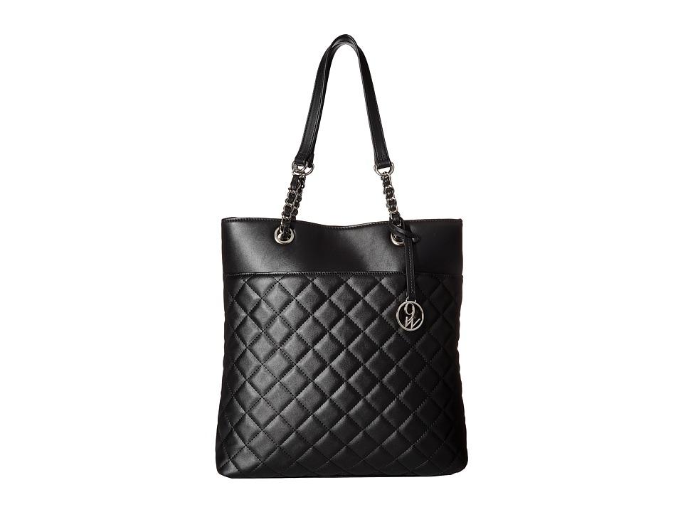 Nine West - Checkered Chic (Black) Handbags