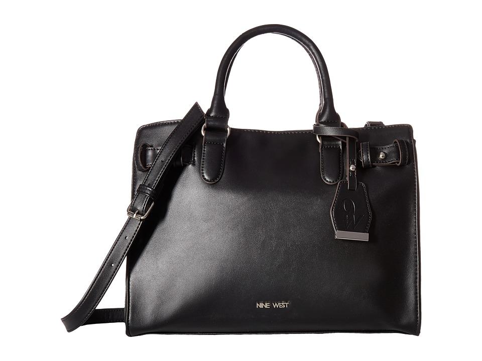Nine West - Buckle Time (Black) Handbags