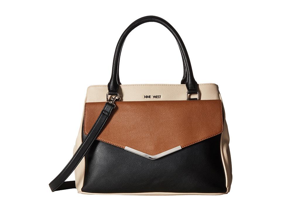 Nine West - Valine (Beige/Black/Tobacco) Handbags