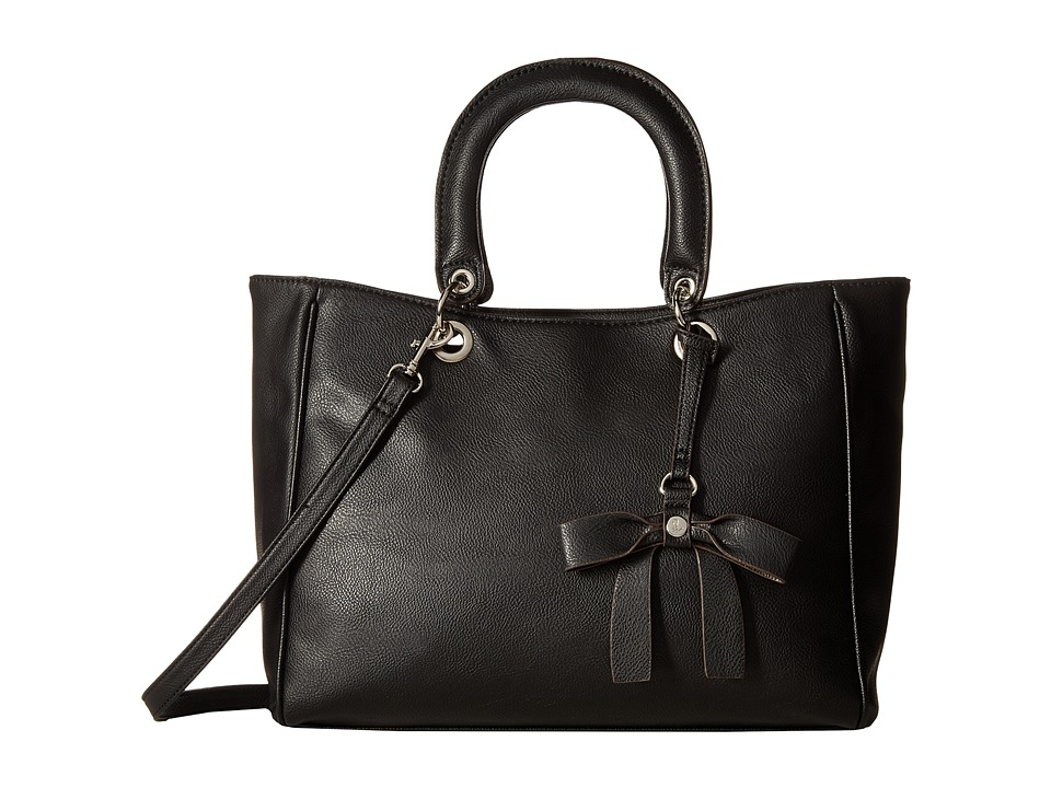 Nine West - Bow Detail (Black/Black) Handbags