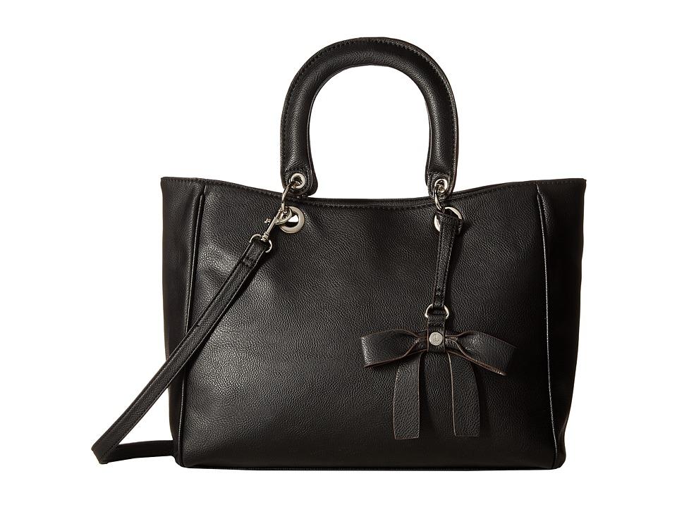 Nine West - Bow Detail (Black/Black) Handbags
