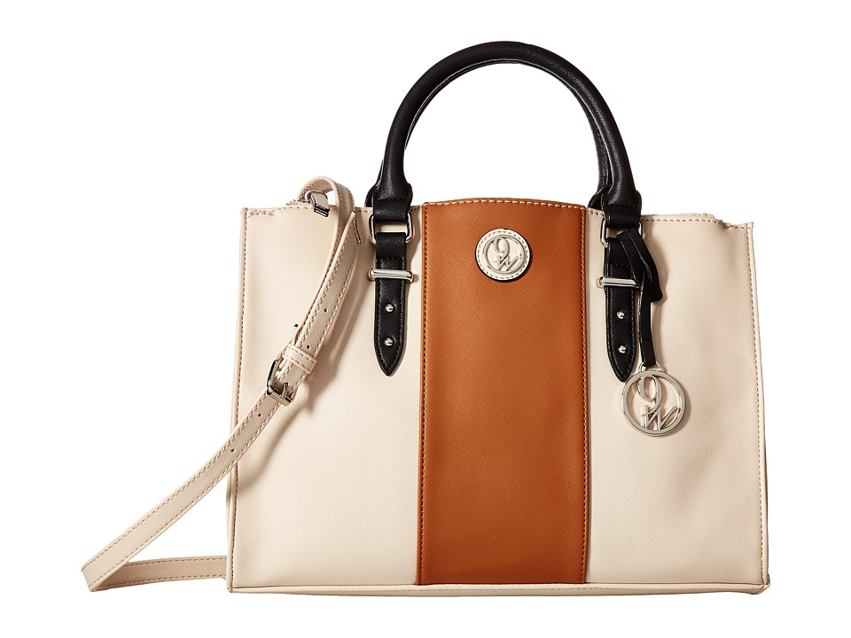 Nine West - State of Stripes (Beige/Tobacco/Black) Handbags